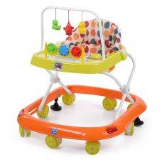 Детские ходунки с игровыми подвесками, M 0541C-3 оранжево-зеленый