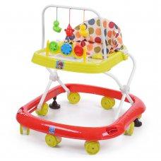 Детские ходунки с игровыми подвесками, M 0541C-4 красно-зеленый