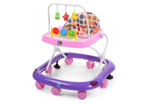 Детские ходунки с игровыми подвесками, M 0541C-5 фиолетово-розовый