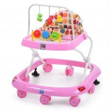 Детские ходунки с игровыми подвесками, M 0541C-6 розовый