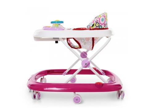 Ходунки детские с музыкальной панелью EL CAMINO HAPPY ME 1049 Pink розовый