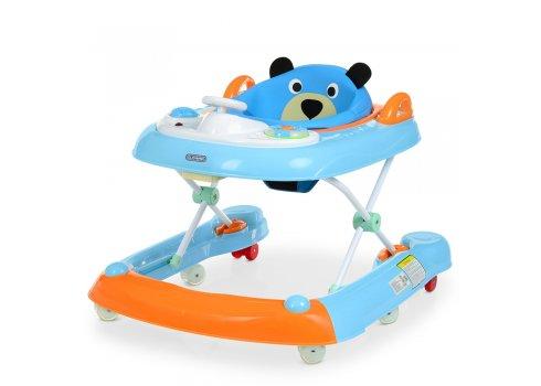 """Ходунки детские 2в1 """"Первые шаги"""" EL CAMINO BEAR ME 1055 Blue голубой"""