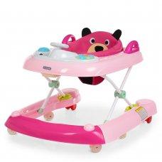 """Ходунки детские 2в1 """"Первые шаги"""" EL CAMINO BEAR ME 1055 Rose Pink розовый"""