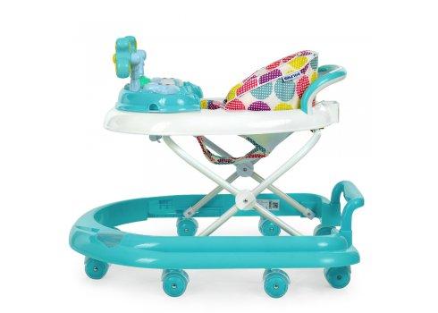 Детские ходунки-каталка с игровой панелью EL CAMINO DOLPHIN ME 1056 Mint бирюзовый