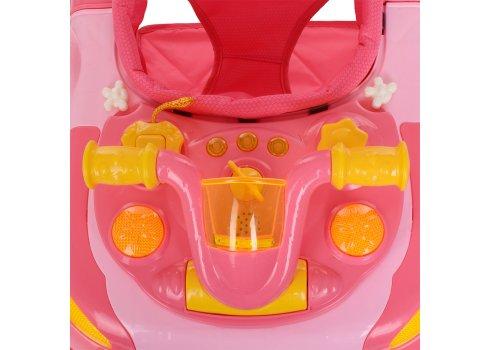 Детские музыкальные ходунки 3в1 Bambi M 3461-4 розовый
