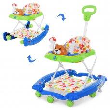 Детские музыкальные ходунки 3в1 Мишка, Bambi M 3656A-2