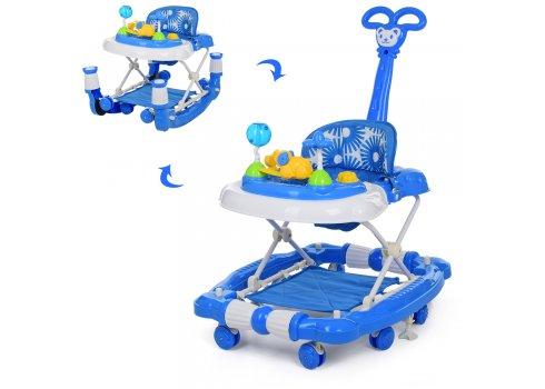 Детские музыкальные ходунки 3в1 Bambi M 3848-1 синий