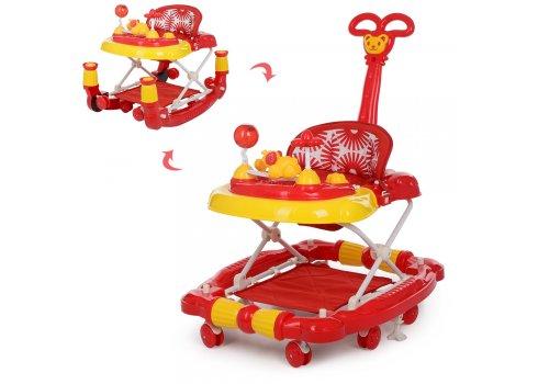 Детские музыкальные ходунки 3в1 Bambi M 3848-3 красный
