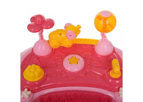 Детские музыкальные ходунки 3в1 Bambi M 3848-4 розовый