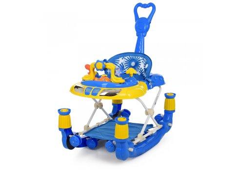 Детские музыкальные ходунки 3в1 Bambi M 3849-1 синий