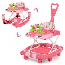 Детские музыкальные ходунки 3в1 Bambi M 3849-4 красный