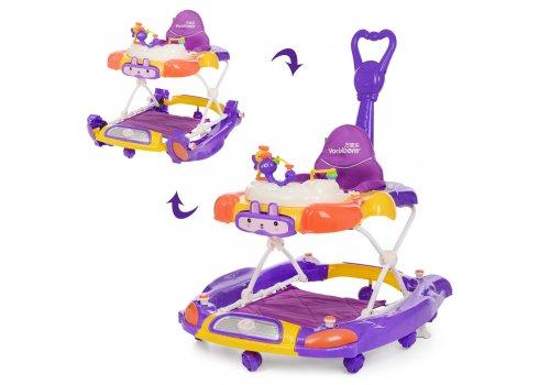 Детские ходунки 3в1 Bambi M 4021-3 фиолетовый