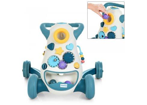 Детские ходунки-толкатель с музыкальными и световыми эффектами El Camino FD-6820-4 синий