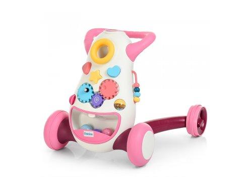 Детские ходунки-толкатель с музыкальными и световыми эффектами El Camino FD-6820-8 розовый