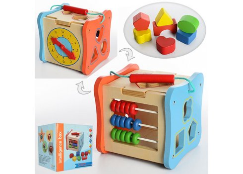Деревянная игрушка - сортер Куб MD 1002