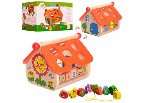 Деревянная развивающая игрушка Домик MD 1087