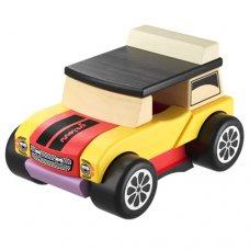 Детский деревянный конструктор-машинка CUBIKA Мини-кабриолет LM-3 с магнитным креплением деталей