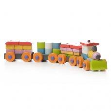 Детский деревянный конструктор CUBIKA Поезд LP-1