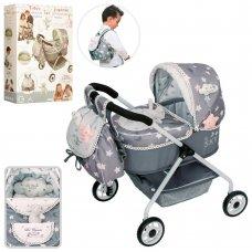 Классическая коляска для кукол с сумкой-рюкзачком DeCuevas Sky 86024