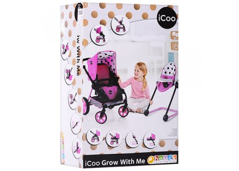 Коляска для кукол 5в1 Hauck iCoo Grow with me D-88842