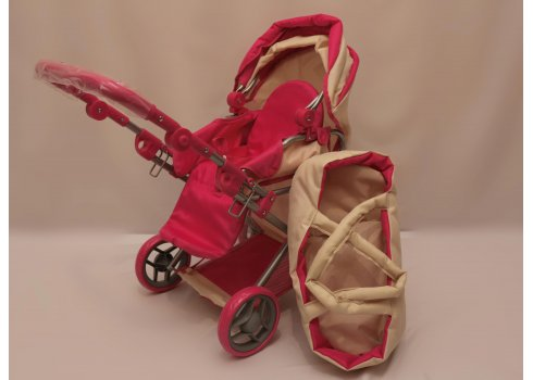 Коляска для кукол трансформер с люлькой, Melogo 9346 бежевый