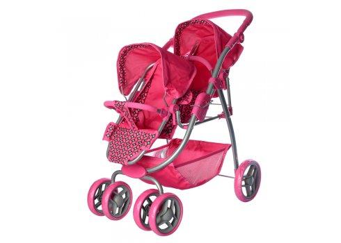 Кукольная коляска для двойни Melogo 9662D