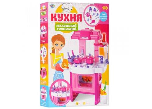 Детская кухня музыкальная Pink Kitchen Set 008-26, высота 63см