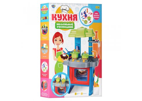 Детская кухня с посудкой Kitchen Set 008-26 A, высота 63см