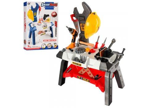 Игровой набор стол Верстак с инструментами, детский инструмент для мальчиков 40-44 детали Bambi T103-2-104-2