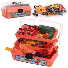 Игровой набор инструментов в чемодане, 49 деталей, 2108