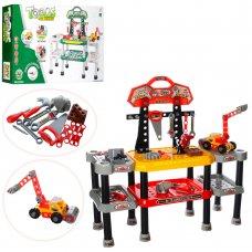 Игровой набор инструментов с верстаком, 121 деталей, Bambi 2212-12A