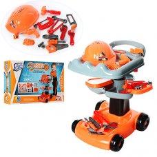 Игровой набор инструментов с тележкой, 25 предметов, Bambi 36778-50