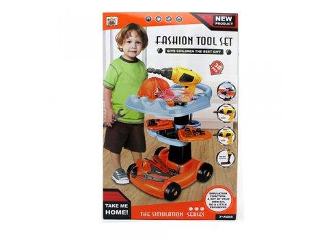 Игровой набор инструментов с тележкой 38 предметов Bambi 36778-69