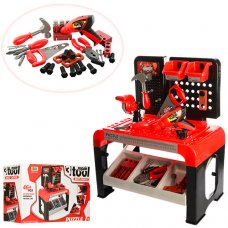 Игровой набор инструментов с верстаком, 46 предметов, Bambi 8012