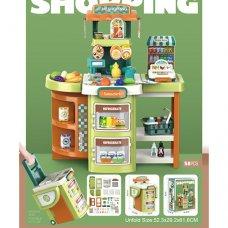 Игровой набор магазин, детский супермаркет на 58 предметов, Bambi 14P06