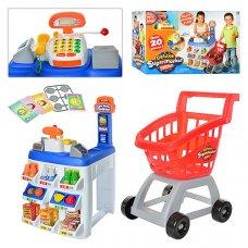 Игровой набор Супермаркет с кассовым аппаратом и тележкой, Keenway Deluxe 31621