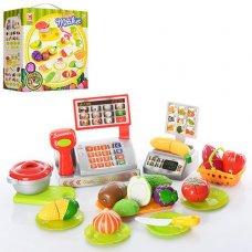 Супермаркет касса и продукты на липучке 616A