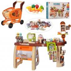 Игровой набор Супермаркет (магазин) с тележкой 668-68 65 предметов