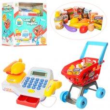 Супермаркет, касса и тележка с продуктами LS820A25