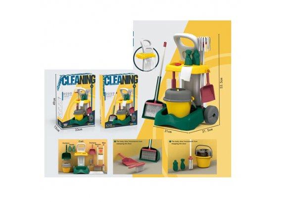 Детский игровой набор для уборки с тележкой 8858-2