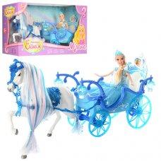 Карета с лошадью и куклой 225A