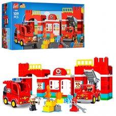 Конструктор Gorock Пожарная часть 109 деталей, 1009 (аналог Лего)