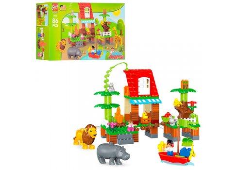 Конструктор Зоопарк 86 деталей (аналог Lego Duplo) Gorok 1032