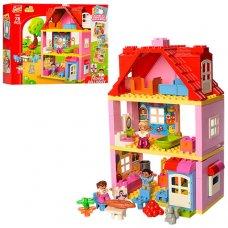 Конструктор Gorock Загородный дом 78 деталей, 1042 (аналог Лего)