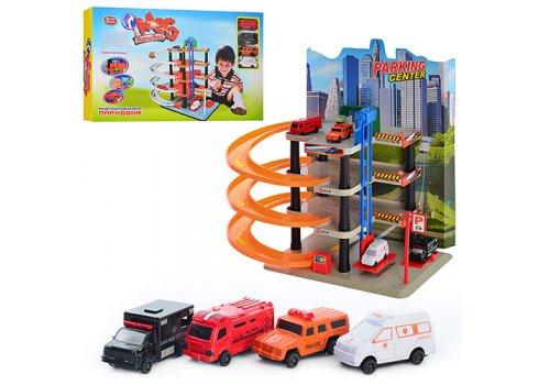 Четырехэтажная парковка-гараж с машинками Play Smart 0848