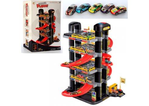 Гараж парковка детская 5 этажей P9188A-1 с машинками