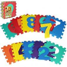 Коврик-мозайка массажный Цифры , 10 деталей, M 2608