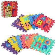 Коврик-мозайка Алфавит и цифры (укр), 10 деталей, M 2609