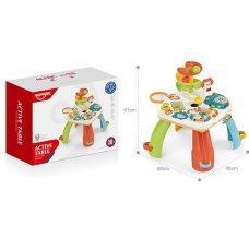 Детский развивающий центр-столик, сортер с музыкальными и световыми эффектами HE0518