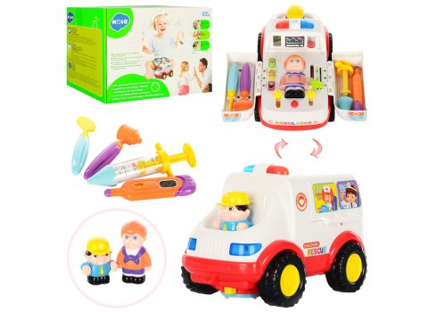 """Машина """"Скорая помощь"""" с игровым набором доктора Hola Toys 836"""